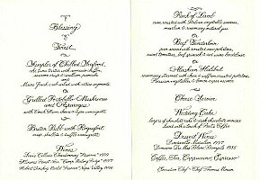 Menu Card - Inside